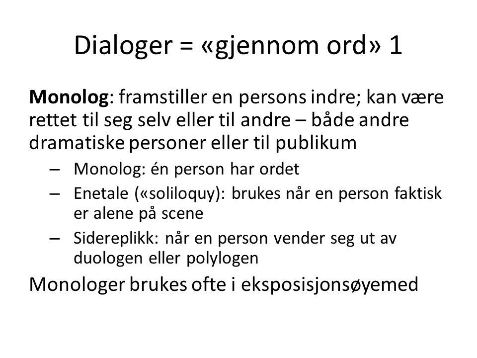 Dialoger = «gjennom ord» 1