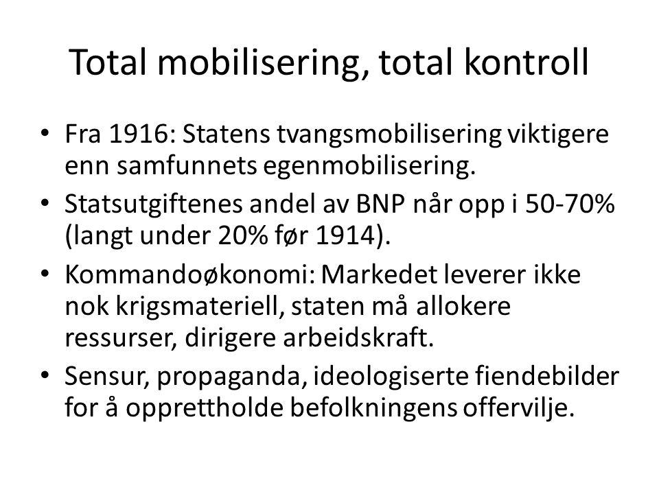 Total mobilisering, total kontroll
