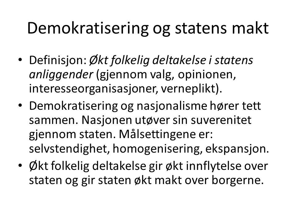 Demokratisering og statens makt