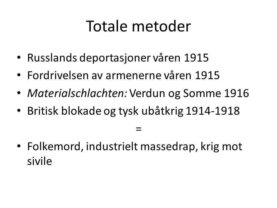Totale metoder Russlands deportasjoner våren 1915