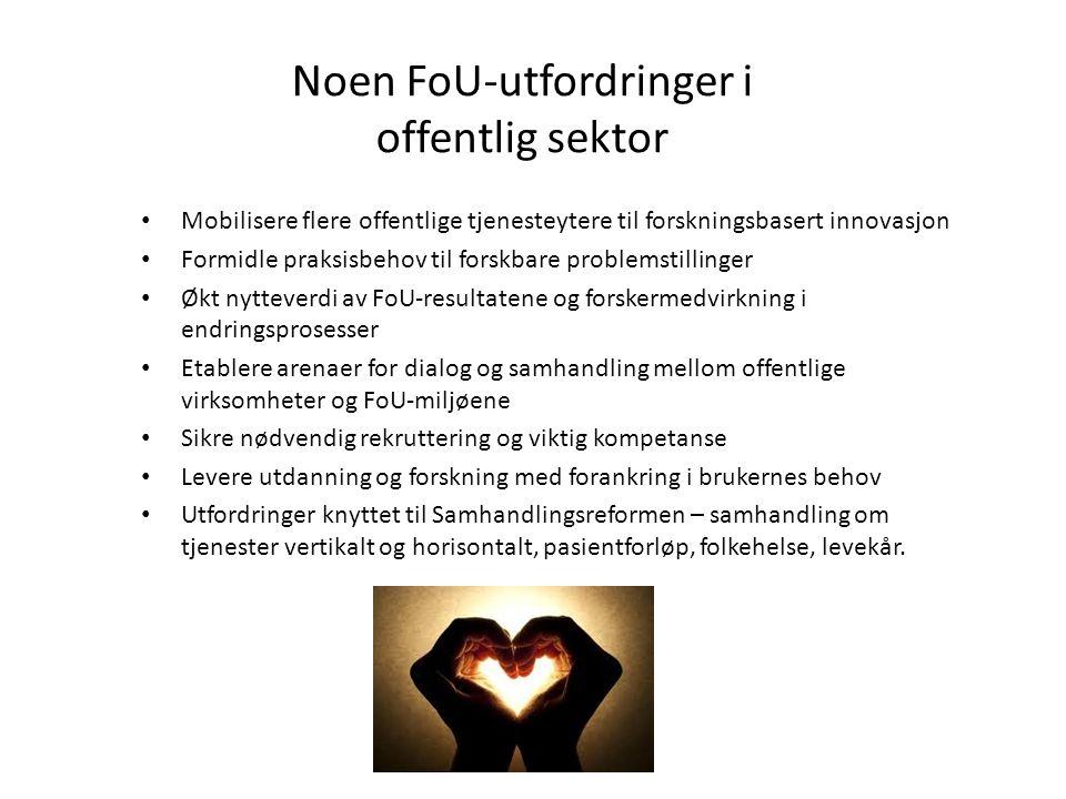 Noen FoU-utfordringer i offentlig sektor