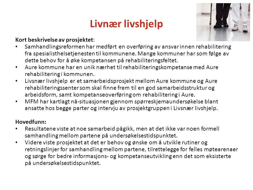 Livnær livshjelp Kort beskrivelse av prosjektet: