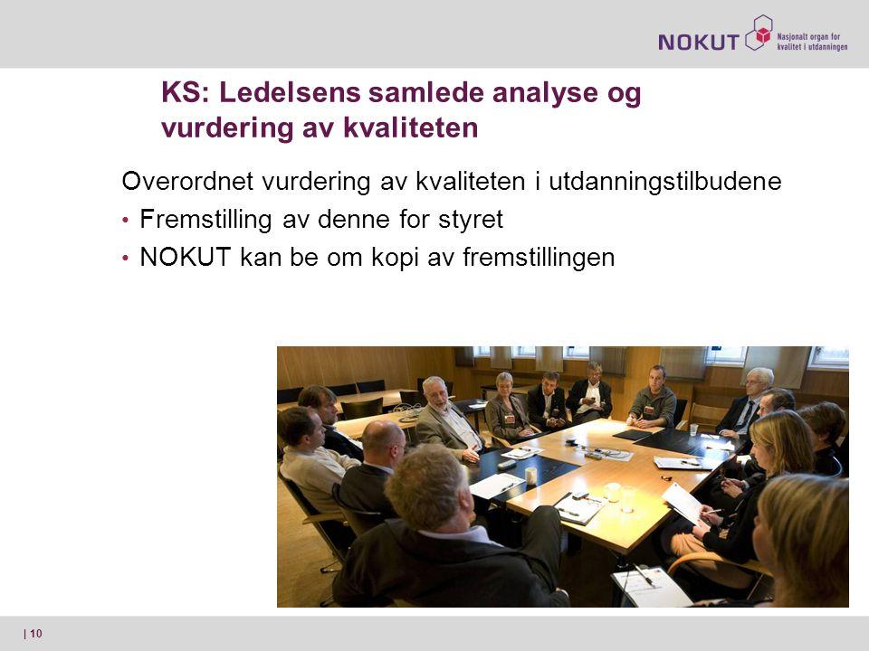 KS: Ledelsens samlede analyse og vurdering av kvaliteten