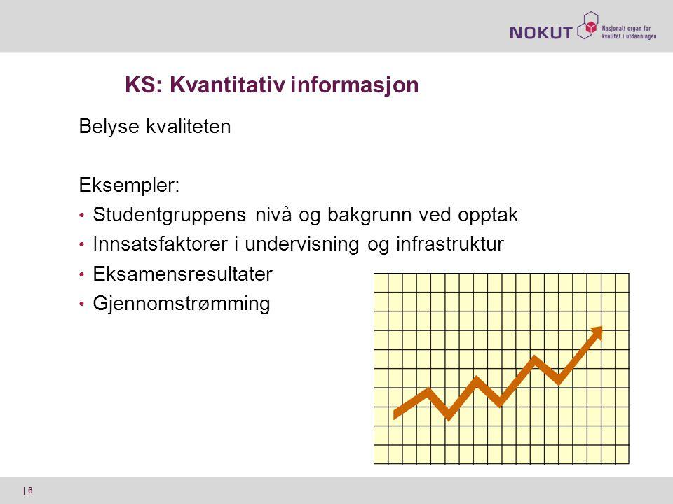 KS: Kvantitativ informasjon