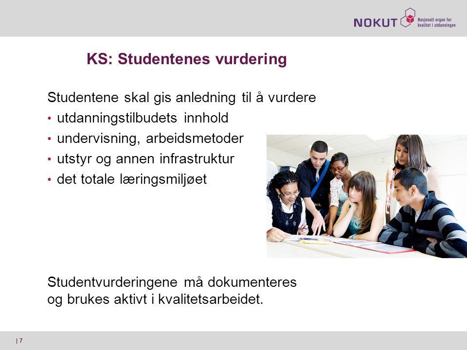 KS: Studentenes vurdering
