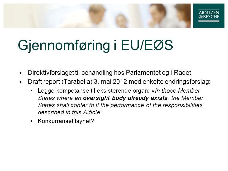 Gjennomføring i EU/EØS