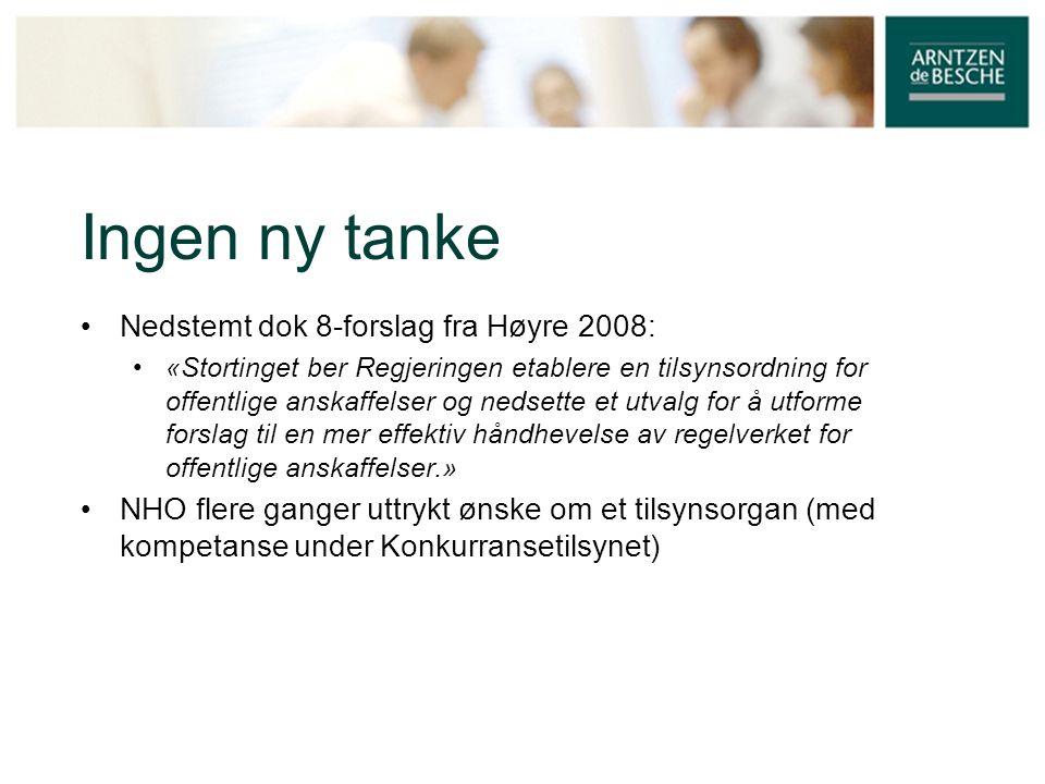 Ingen ny tanke Nedstemt dok 8-forslag fra Høyre 2008:
