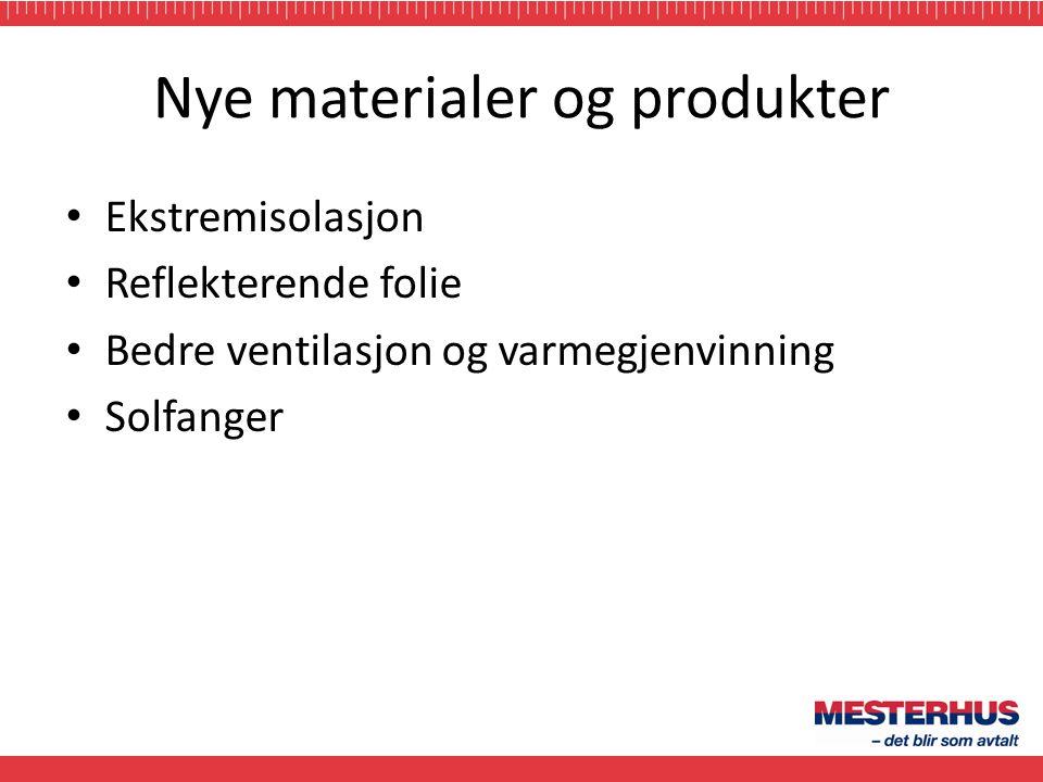 Nye materialer og produkter