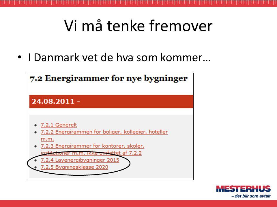 Vi må tenke fremover I Danmark vet de hva som kommer…