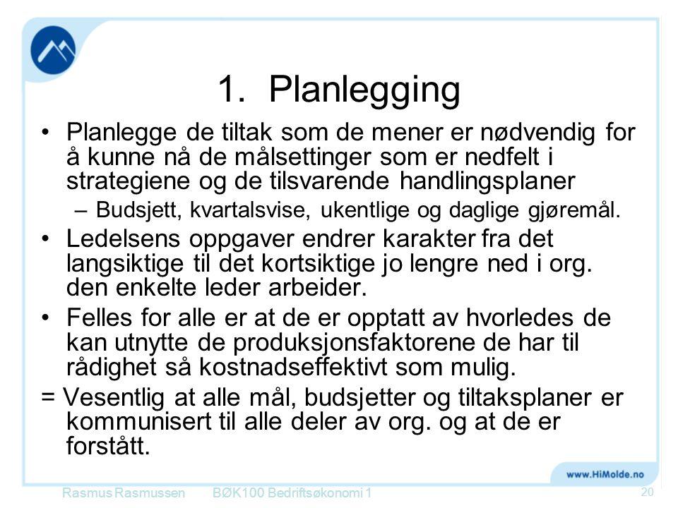 1. Planlegging