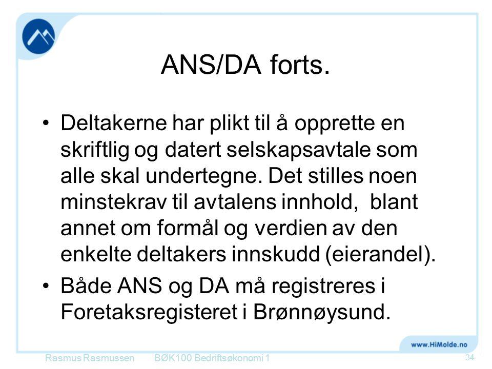 ANS/DA forts.