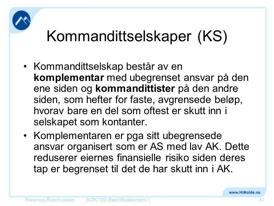 Kommandittselskaper (KS)