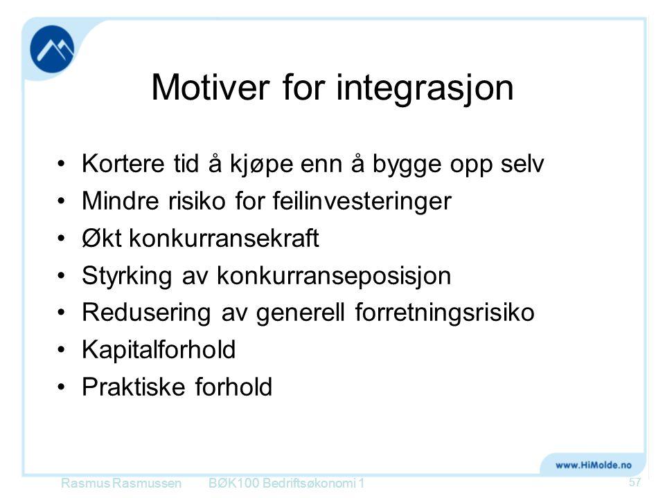 Motiver for integrasjon