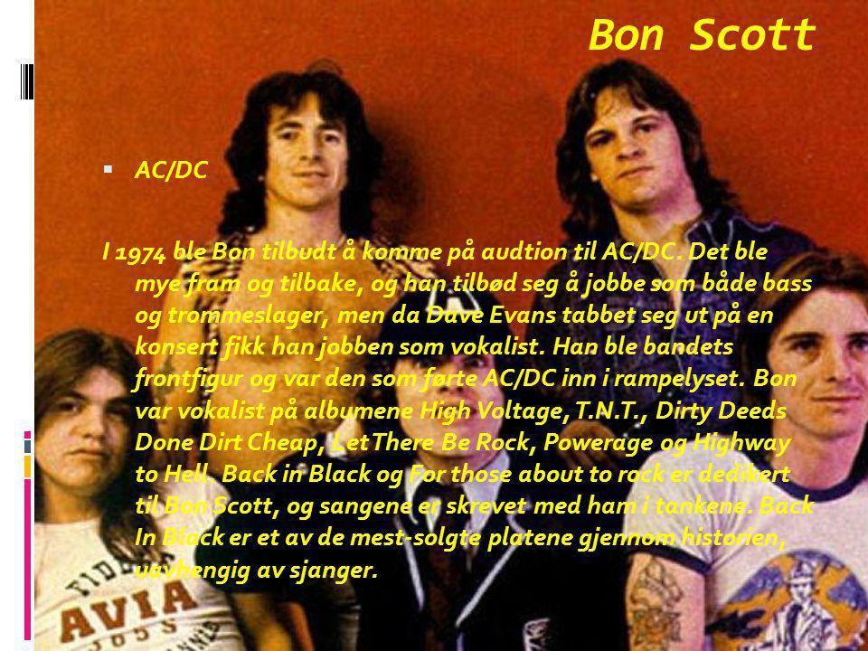 Bon Scott AC/DC.