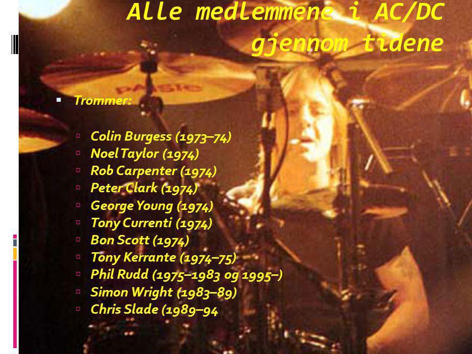 Alle medlemmene i AC/DC gjennom tidene