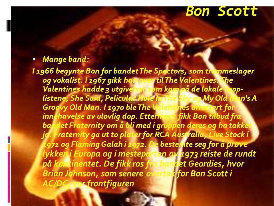 Bon Scott Mange band: