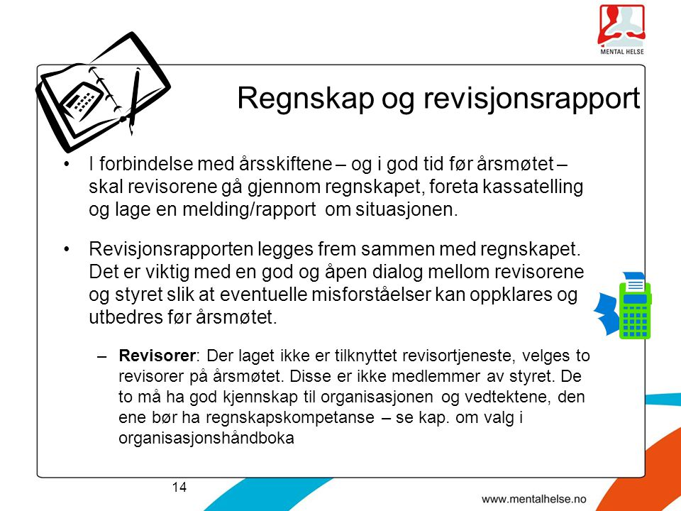 Regnskap og revisjonsrapport