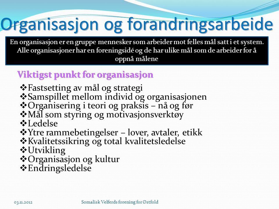 Organisasjon og forandringsarbeide