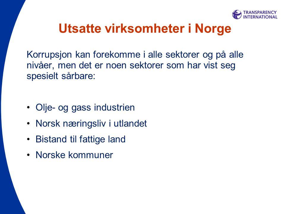 Utsatte virksomheter i Norge