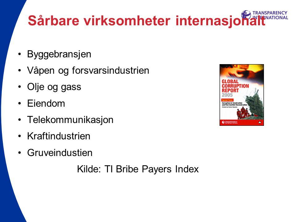 Sårbare virksomheter internasjonalt