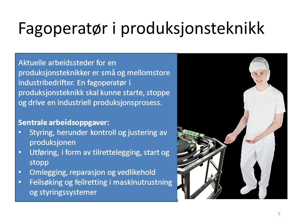 Fagoperatør i produksjonsteknikk