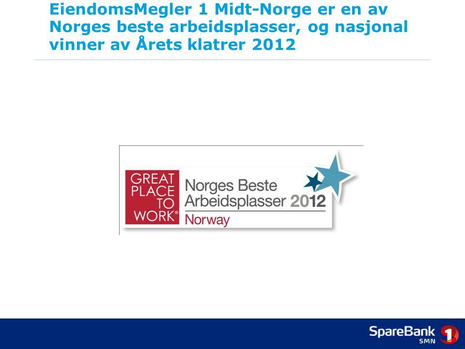 EiendomsMegler 1 Midt-Norge er en av Norges beste arbeidsplasser, og nasjonal vinner av Årets klatrer 2012