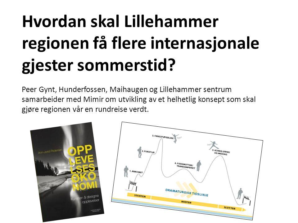 Hvordan skal Lillehammer regionen få flere internasjonale gjester sommerstid