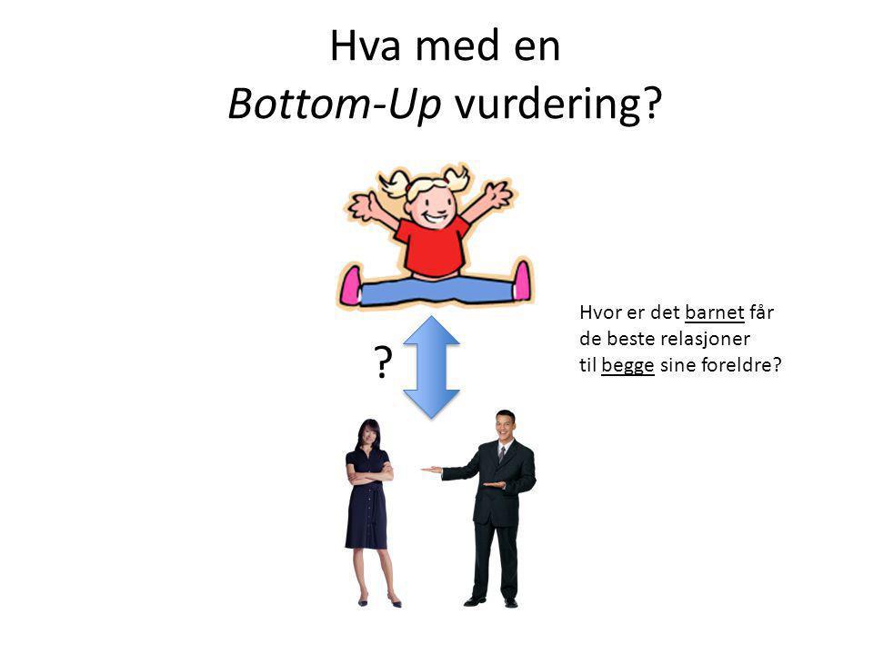 Hva med en Bottom-Up vurdering