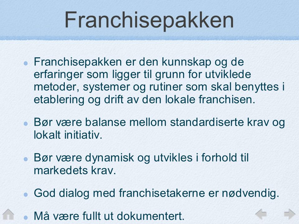 Franchisepakken