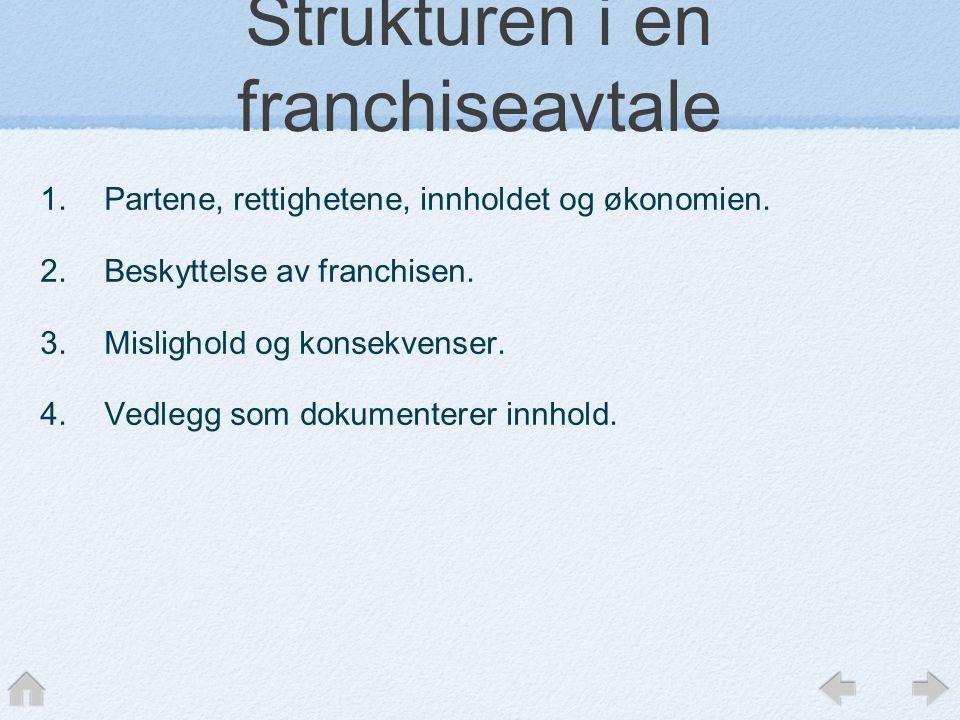 Strukturen i en franchiseavtale