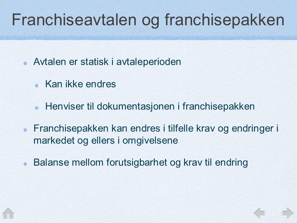 Franchiseavtalen og franchisepakken