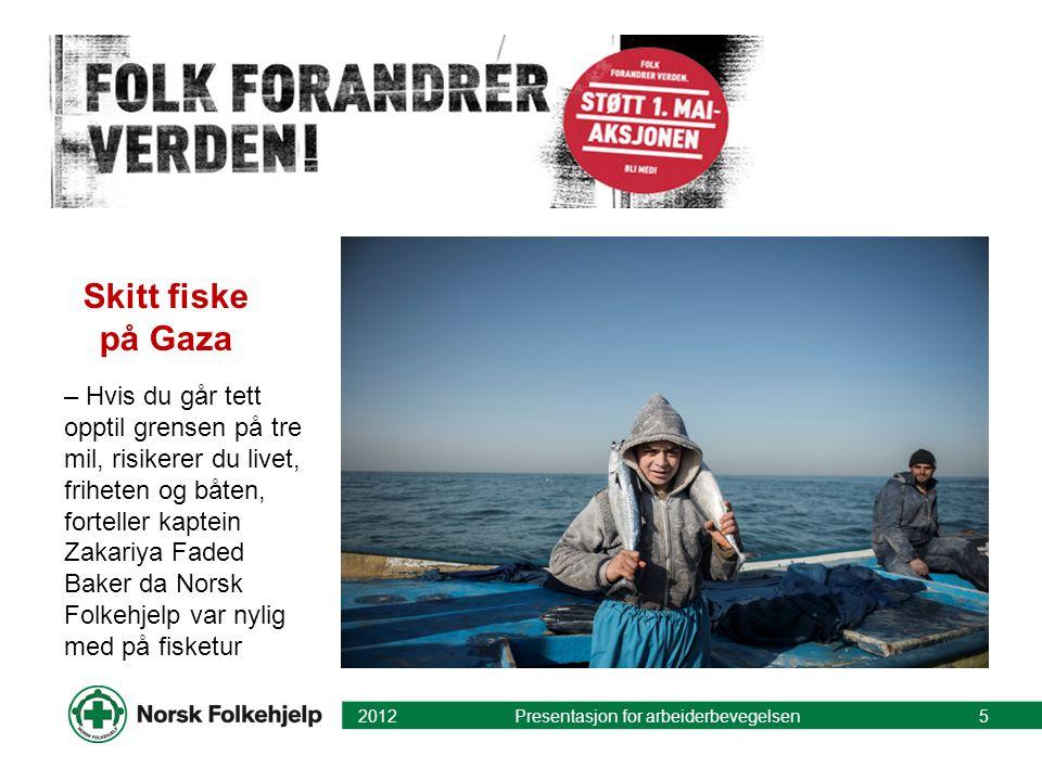 Skitt fiske på Gaza