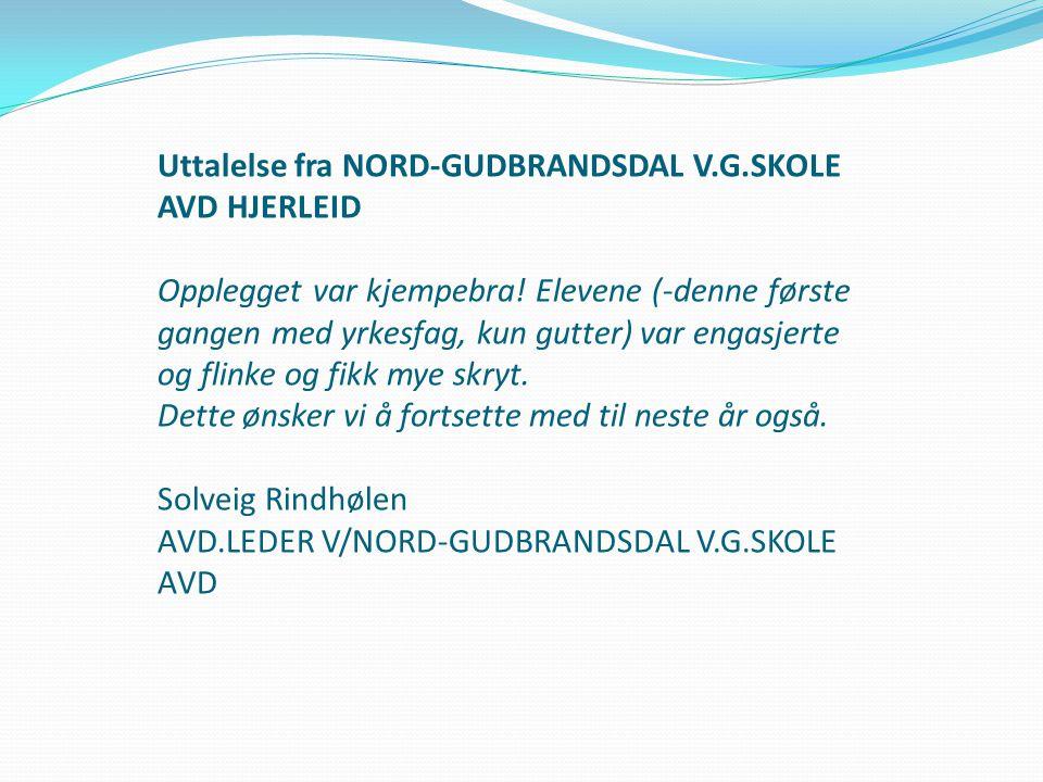 Uttalelse fra NORD-GUDBRANDSDAL V. G