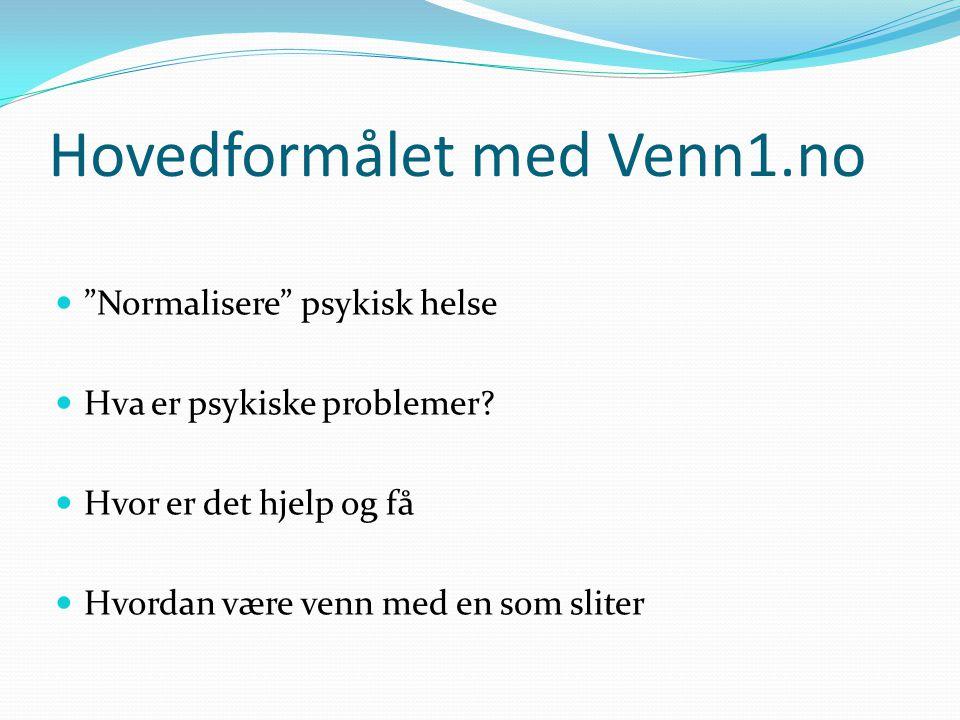 Hovedformålet med Venn1.no