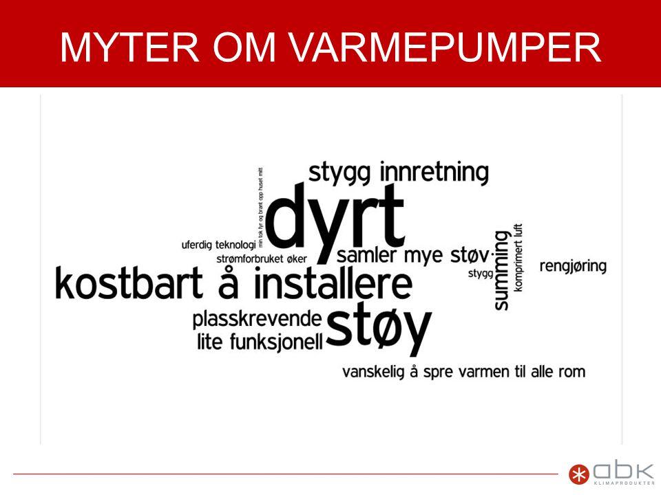 MYTER OM VARMEPUMPER Brukerundersøkelse som viser hvor fornøyde VP-kunder er.