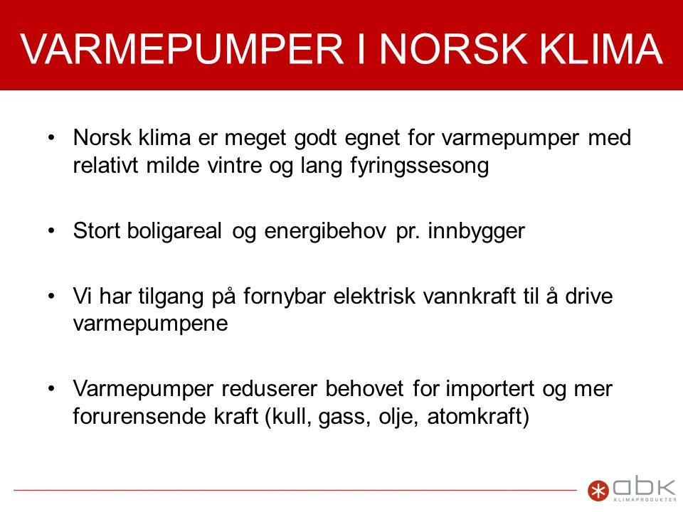 VARMEPUMPER I NORSK KLIMA
