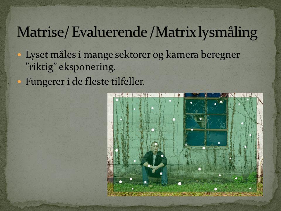Matrise/ Evaluerende /Matrix lysmåling