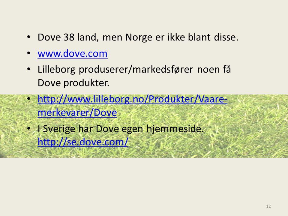 Dove 38 land, men Norge er ikke blant disse.