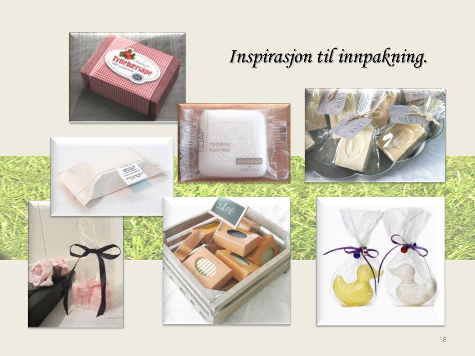 Inspirasjon til innpakning.