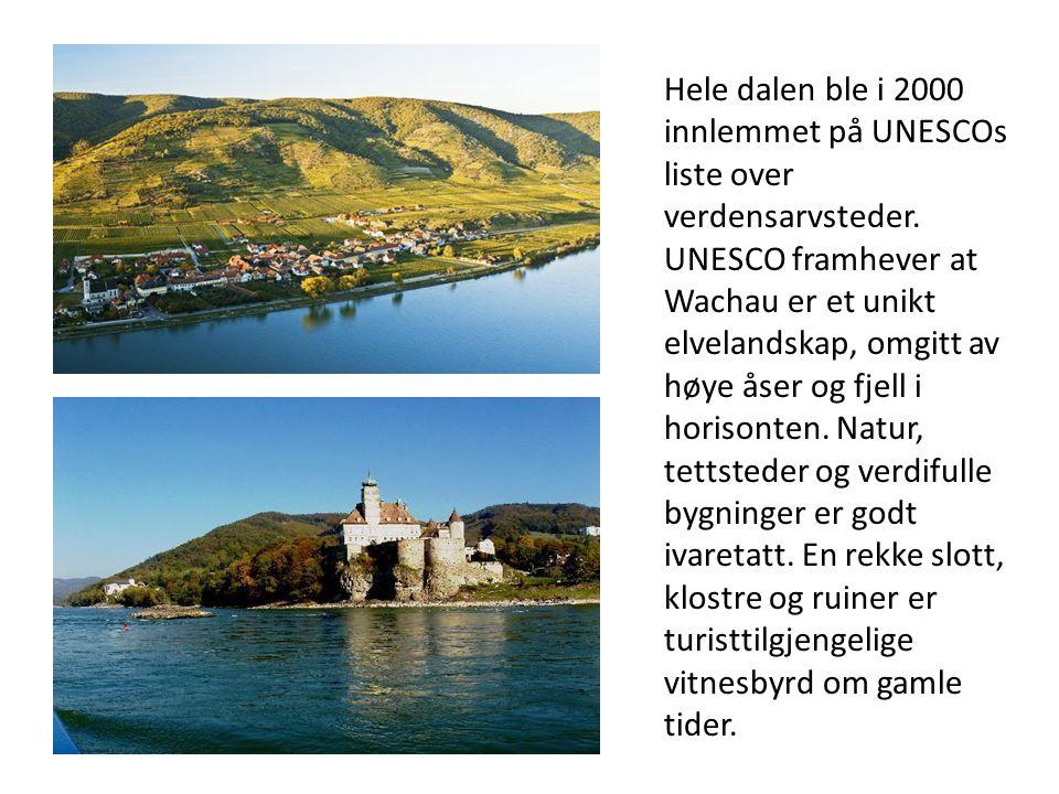 Hele dalen ble i 2000 innlemmet på UNESCOs liste over verdensarvsteder.