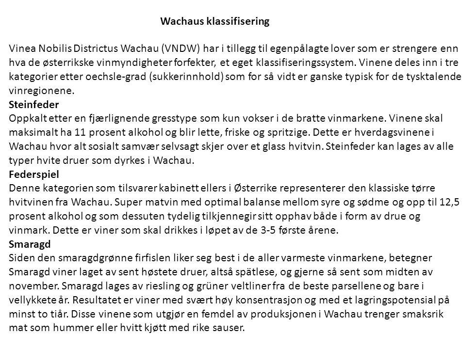 Wachaus klassifisering
