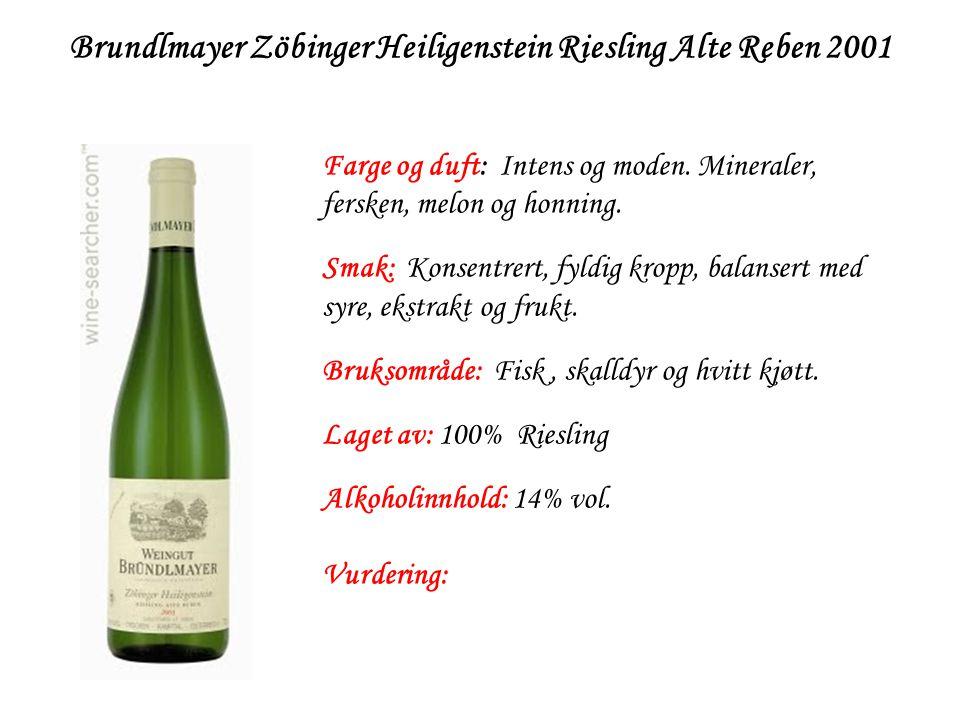 Brundlmayer Zöbinger Heiligenstein Riesling Alte Reben 2001
