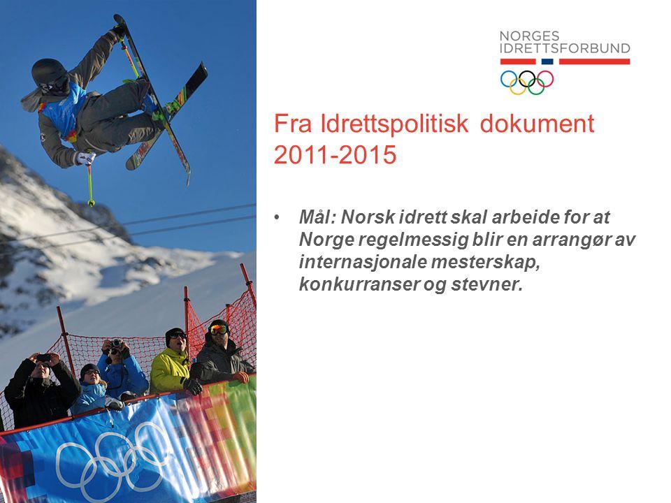 Fra Idrettspolitisk dokument 2011-2015