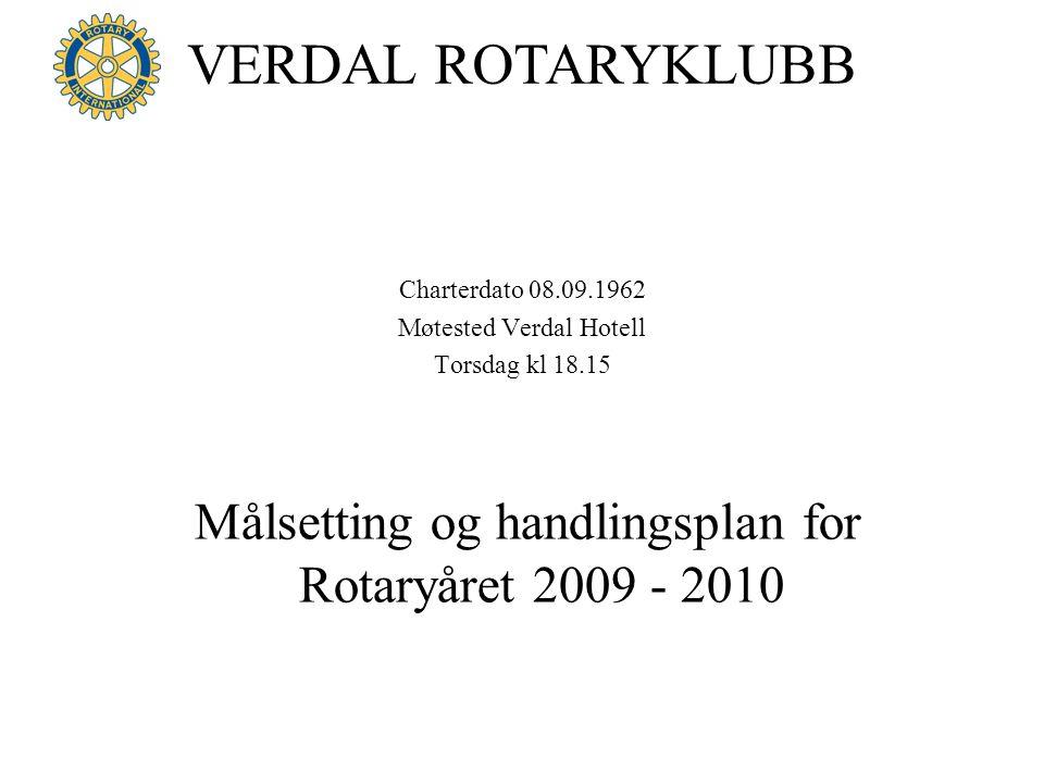 Målsetting og handlingsplan for Rotaryåret 2009 - 2010
