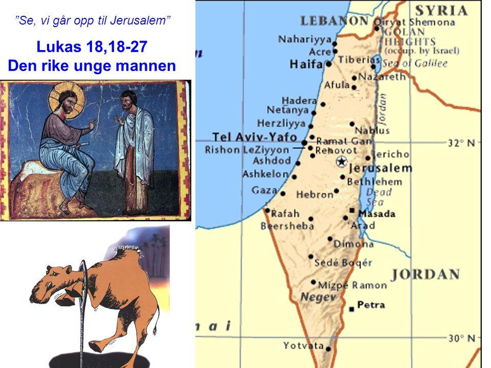 Lukas 18,18-27 Den rike unge mannen