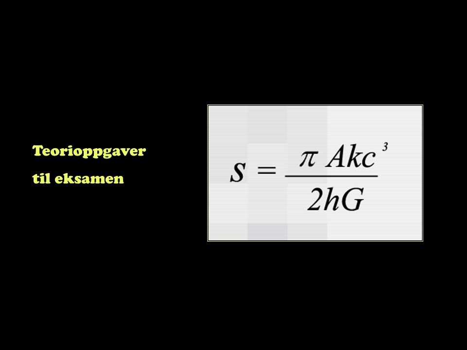 Teorioppgaver til eksamen