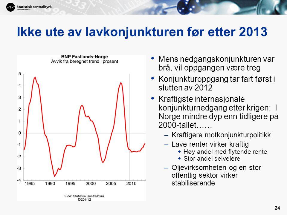 Ikke ute av lavkonjunkturen før etter 2013