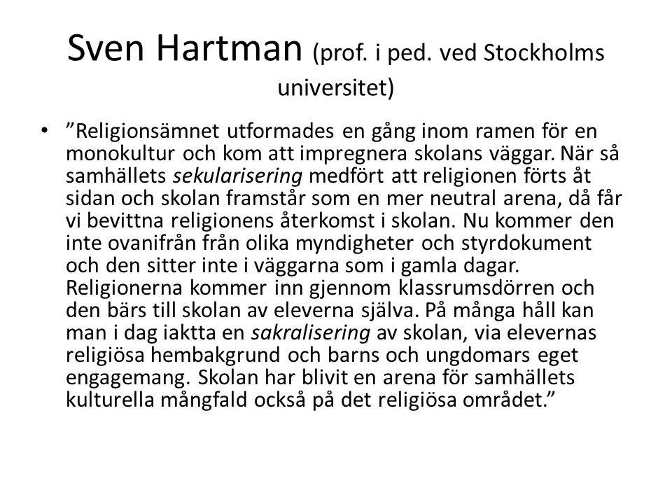 Sven Hartman (prof. i ped. ved Stockholms universitet)
