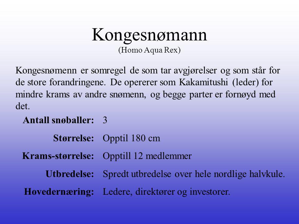 Kongesnømann (Homo Aqua Rex)