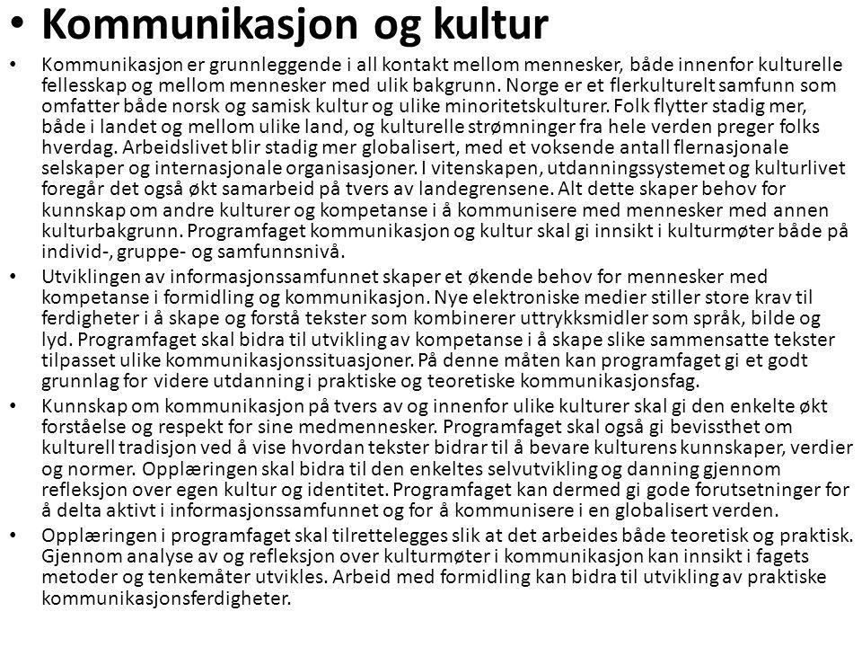 Kommunikasjon og kultur